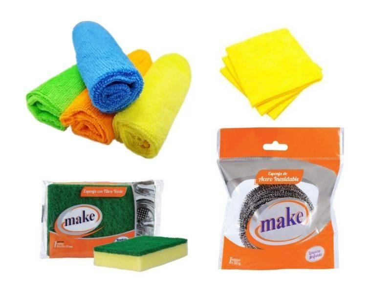 Trapos de pisos, rejillas, microfibras y esponjas