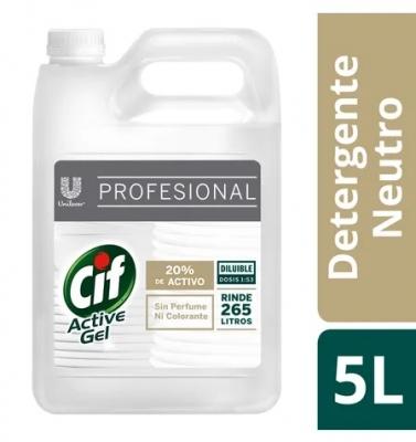 Cif Active Gel Detergente Sint Neutro 5l (4509)