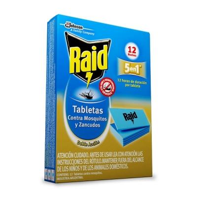Tableta Raid Mosquitos 12un.