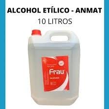 Alcohol Etilico 70% Sanitizante/desinfectante 10lts