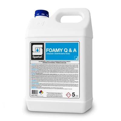 Foamy Q&a 5 Litros Limpiador ácido Desinfectante Con Acción Espumante