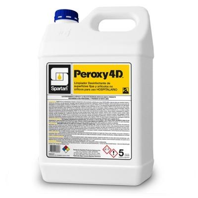 Peroxy 4d 5 Litros Desinfectante Hospitalario Nivel Intermedio Amonios Cuaternarios De 5º Generación Y Peróxido De Hidrógeno.
