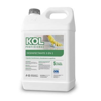 Kol Desinfectante Cuaternario 3en1 X 5 Litros