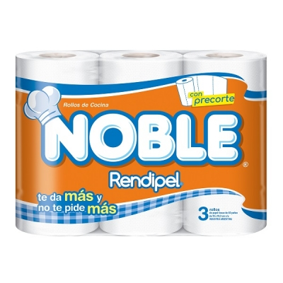 Rollo Cocina Noble 40p X3 / Pack X 10 (9228)