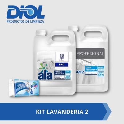 Kit Lavanderia 2: Ala Matic X 5 Litros + Vivere Suavisante 5 Litros  Gratis Jabon Blanco Gigante 120gs