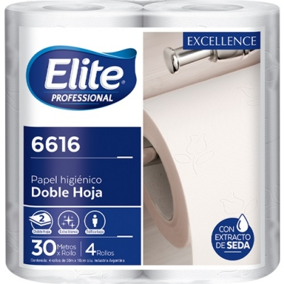 Papel Higienico Elite Rollito 30 Mts Dh - Excellence - X4/10(6616)