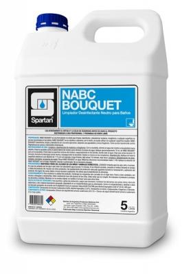 Nabc Bouquet Cuat.5° Generacion3 En 1  Desinf/deterg/desod Concent Ph Neutro 5lt Rend: 200 Litros