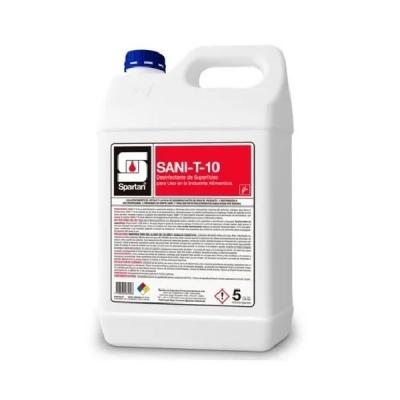 Sani-t-10 X 5 Litros Desinfectante Líquido Súper Concentrado Amonio Cuaternario De 5ta Generación
