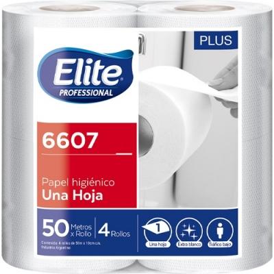 Papel Higienico Elite Rollito 50mts Sh Bco Plus 4x12(6607)