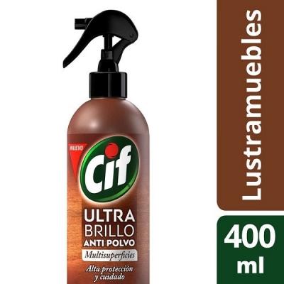 Cif Ultra Brillo Lustra Muebles Anti Polvo Gtl 400ml (0219)